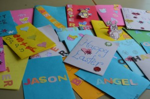 Our Easter Cards that we made for out family.